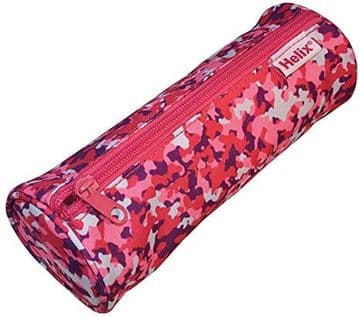 Helix Oxford Camo Pencil Case - Pink