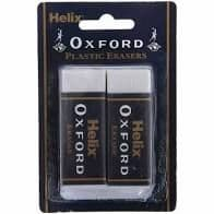 Helix Oxford Large Erasers Twin Pack