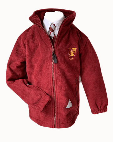 Holt Farm  Polar Fleece Jacket - Maroon