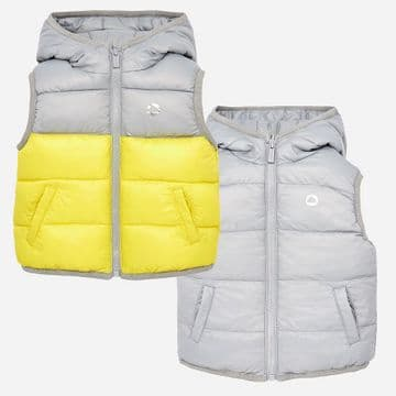 Mayoral     2460 .       Reversible Vest Acid Yellow .  Available Sizes   12/24/36 M .