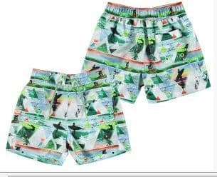 Mayoral 3630  Mint Surf Shorts . Available Sizes 2/3/4/5/6 Years .   Spring/Summer 2018