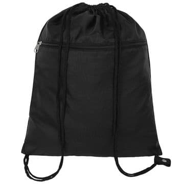 Plain Senior Gym Bag - Black