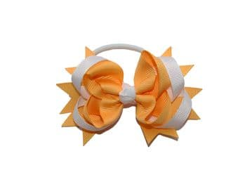 Pony Big Bow - Gold/White