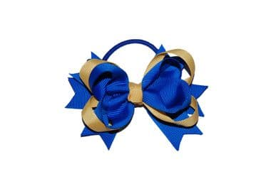 Pony Big Bow - Royal/Gold