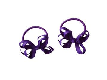 Pony Elastic Bows - Purple