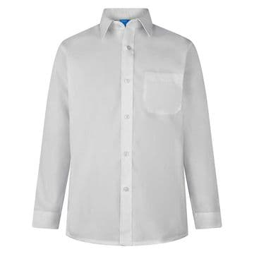 Shirt Non-Iron - Twin Pack - LONG  SLEEVE - WHITE - BOYS