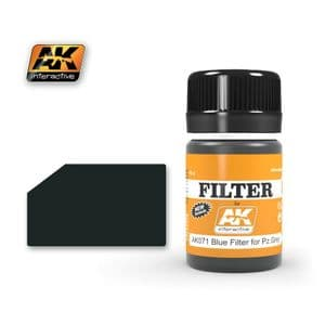 BLUE FILTER FOR PANZER GREY VEHICLES<br> AK071