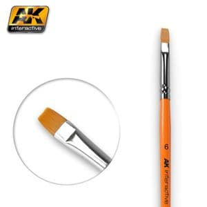 FLAT BRUSH 6 SYNTHETIC<br>AK611