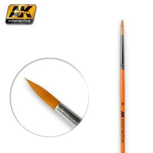 ROUND BRUSH 8 SYNTHETIC<br>AK607