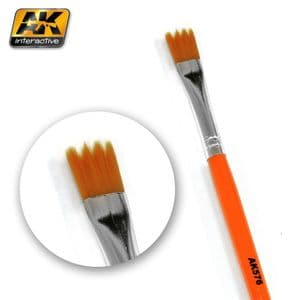 Saw Shape Weathering Brush<br>AK576