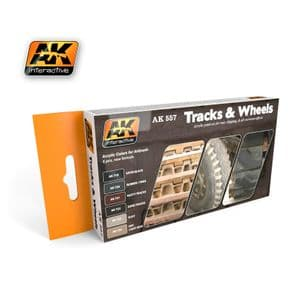 TRACK AND WHEELS COLORS SET<br> AK557