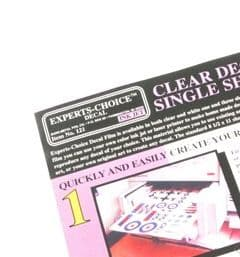 Clear Decal paper for Inkjet