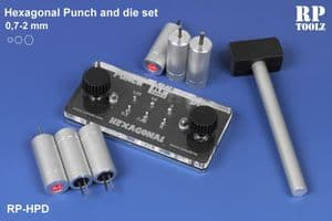 RP Toolz Hexagonal Punch & Die Set 0.7mm to 2mm