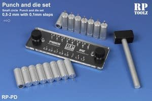 RP Toolz Punch & Die Set 0.5mm to 2mm