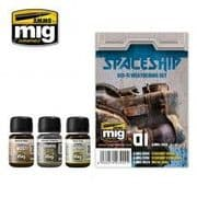 SPACESHIP SCI-FI WEATHERING SET<br>A.MIG-7444