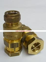 3/8in Durapipe Polyorc Iso (17mm OD) x 15mm Copper (Compression) Transition Adaptor - Bespoke Part