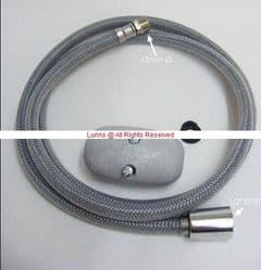 "Abiante Lacroix 1.5m M15Mx1/2"" F Braided Sink Mixer Pullout Hose UOL6-17"