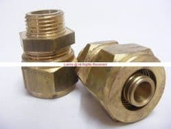 "Antler 18mm Brass Compression 1/2"" Male Str for 2mm Wall Plastic MLP/Pex Pipe Bespoke Part"
