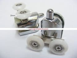 Aquabay Bottom Twin 20mm Roller Assembly Kit c/w Chrome Pin  A54124V2 Pair - Bespoke Part