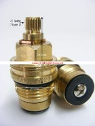 Bank20 190S DTC Mk2  Tap Washer Valve XZ20 Mk2 BX20 T20-10A (Pair)