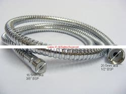 "Bellosta Romina 1/2"" Female x 3/8"" Male 1500mm Chrome Shower Hose UOL6-8-2 - Bespoke Part"
