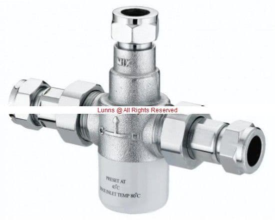 Bristan Gummers 15mm Thermostatic Mixing Valve, 15mm Inlets MT503CP