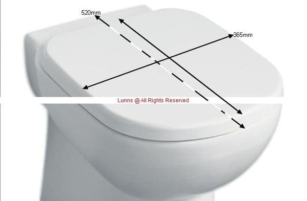 David Lloyd Armitage Shanks Series 4 Seat & Cover (for 550mm Pan Only) - Soft Close Hinge NOS