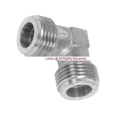 Gas Hob Elbow Male ParallelxMale Parallel thread aka BSPPxBSPP - Bespoke Part