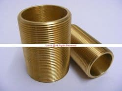 "Gordella 1-1/4"" BSP 80mm Brass Running Nipple - Bespoke Part"