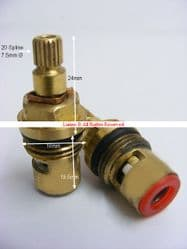 Koi Series L Plain Ceramic Disc Sink Mixer Cartridge Valve PKITLINV