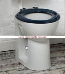 LAN High Rise Low Level Pan & Cistern c/w Seat (Pan & Seat 495mm High)