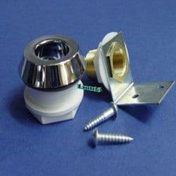 New Pattern Fixed Angle Escutcheon Chrome (Old Pattern In Picture)- Bespoke Part
