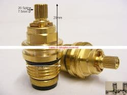 """Plumbsure20 Opal Lota BS5412 L20 1/2"""" Washer Valve Replacement (pair) T20X10"""