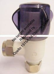 Redreef 15mm Angle Water Heater Inlet Valve R54-1515A (Replace Sadia 95605431/Santon S1232/Opella)