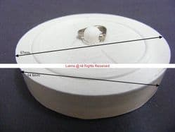 "Reel 2-1/4"" White Rubber Waste Plug"