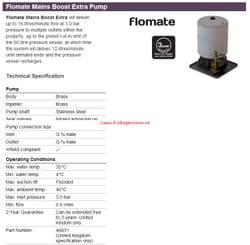 Stuart Turner Flomate 46631 - New Product Price to be confirmed
