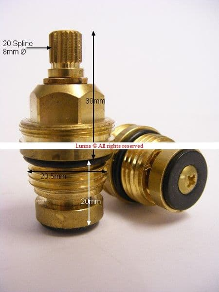 UKN Half Turn 1/2inch Washer Valve 20 Spline T24-22A