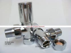 Western Heavy Duty Chrome Rad Valve (Large 23.5mm Comp Thread) - Bespoke Part OFC9