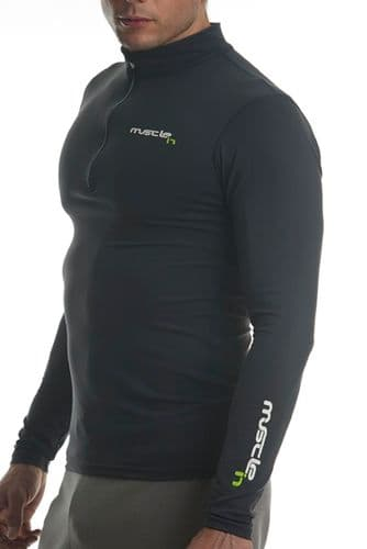 MI-Skin Shrike Zipped Top (Ebony Grey)