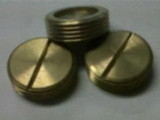 25mm Slotted Brass Stopping Plug