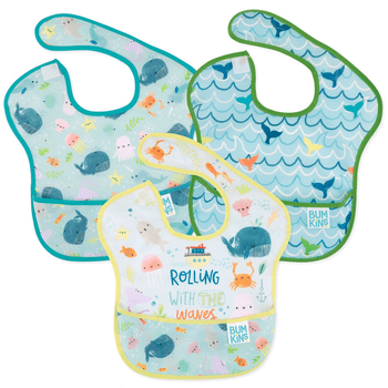 Bumkins Superbib (3pk) Rolling with the waves