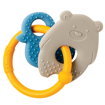 Nattou Silicone Teether (Bear & Duck) Ochre Ring