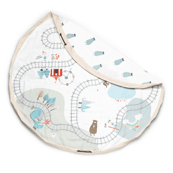 Play & Go Toy Storage Bag (Designs) Fantasy Train Map