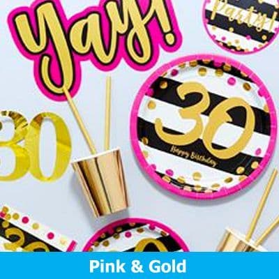 30th Gold & Pink