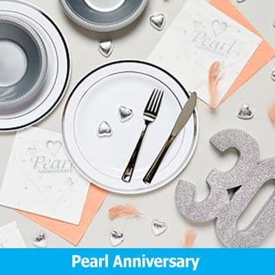 30th Pearl Wedding Anniversary Party Supplies