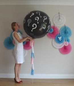 3ft Single Gender balloon helium filled with no tassel