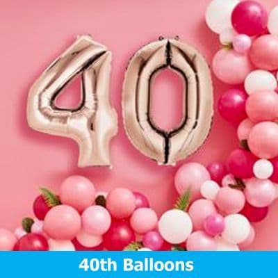 40th Party Balloons