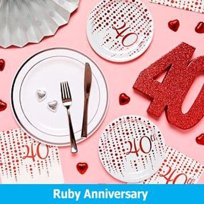 40th Ruby Wedding Anniversary Party Supplies