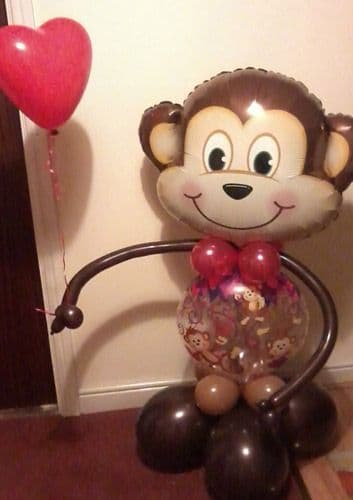 4ft Monkey Balloon Character - Ideal as a gift
