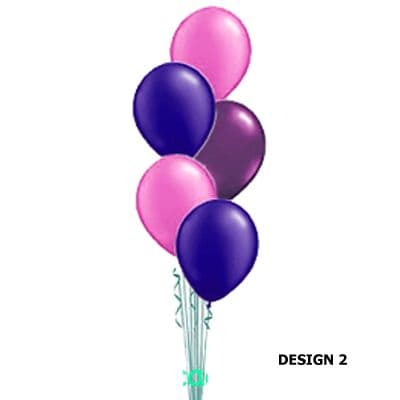 5 latex Balloons - cascaded Table Decoration or Floor Standing  (Inflated price)
